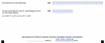 образец заполнения декларации усн для ип