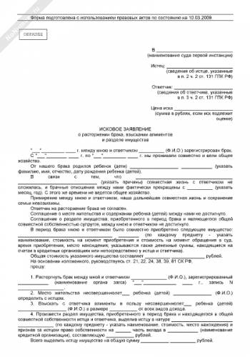 образец искового заявления в суд на мфо